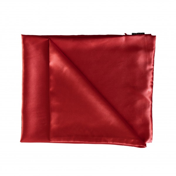 PONGEE PILLOW CASE RED 65X50